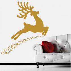 Sticker Noël - Cerf étoiles