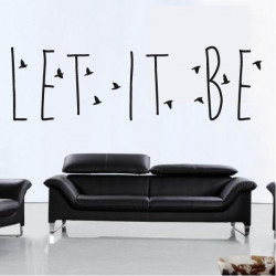 "Sticker Texte Lettrage "" Let it be """