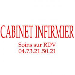 Lettrage Cabinet Infirmier 40x15cm