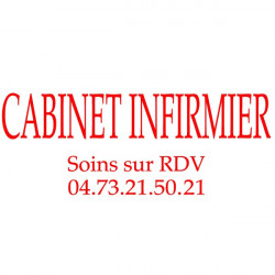 Sticker Lettrage Cabinet Infirmier 40x15cm