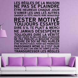 Texte Les Règles de la Maison