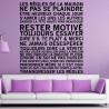 Sticker Texte Les Règles de la Maison