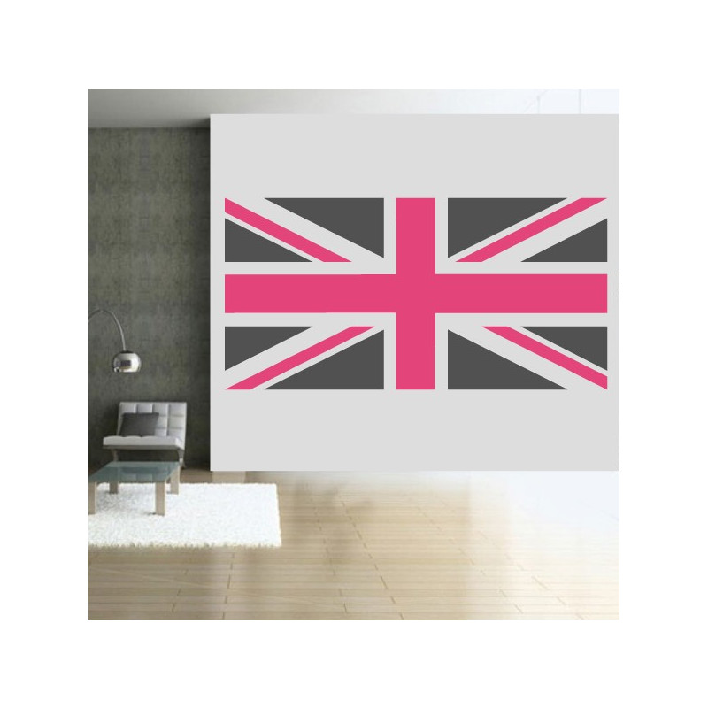 sticker drapeau anglais 2 couleurs. Black Bedroom Furniture Sets. Home Design Ideas
