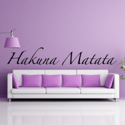 Sticker Lettrage Hakuna Matata