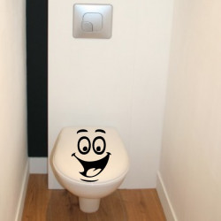 Sticker Abattant WC - Visage Humoristique