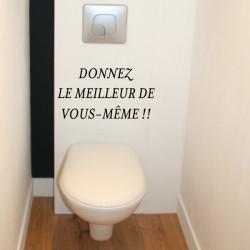 Abattant WC - Donnez le meilleur de vous-même !!