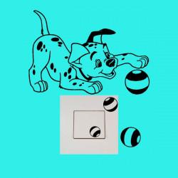 Stickers Interrupteur / Prise Chiot 101 Dalmatiens