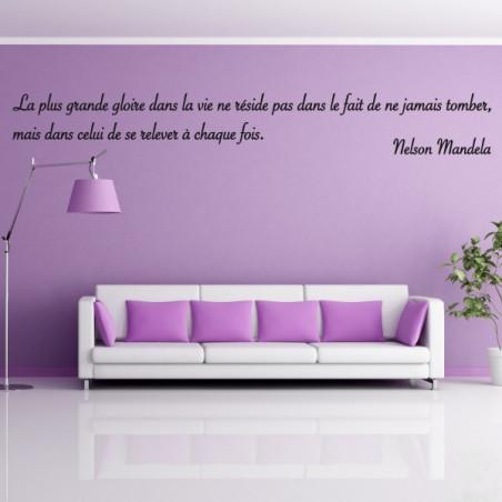 texte : La plus grande gloire dans la vie... Nelson Mandela