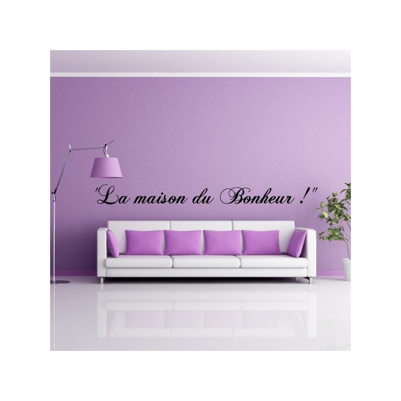 """Sticker Texte """"La maison du Bonheur !"""""""