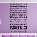 Sticker Texte : Les règles des Grands-Parents cuisine ouverte 24h