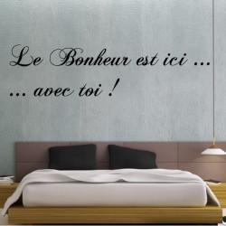 Sticker Citation : Le Bonheur est ici ...avec toi !