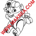 Sticker Pat' Patrouille - Ruben Bulldog anglais