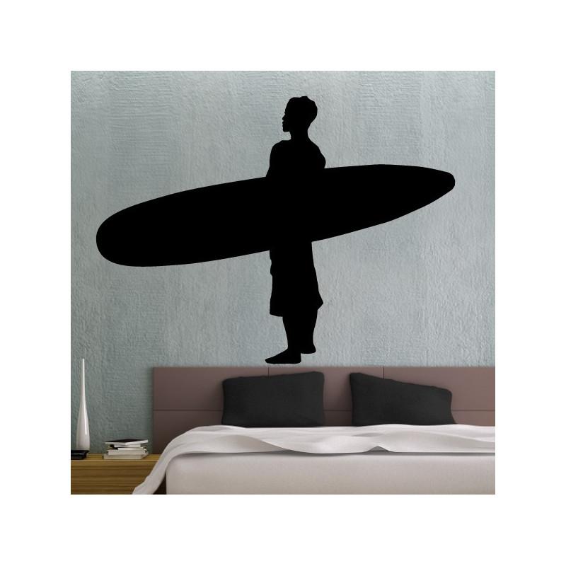 Sticker Surfeur avec planche