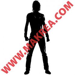 Sticker Silhouette Homme Debout