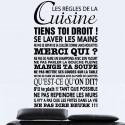 Sticker Texte Les règles de la Cuisine