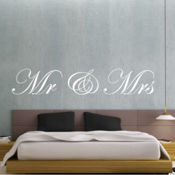 "Texte Lettrage ""Mr & Mrs"""