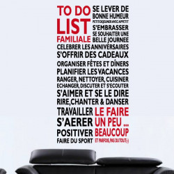 "Sticker Texte ""To Do List Familiale"""
