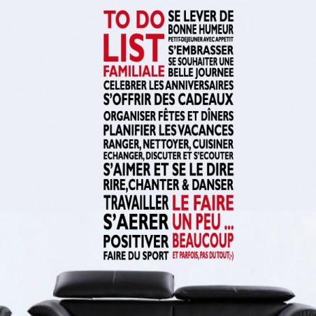 "Texte ""To Do List Familiale"""