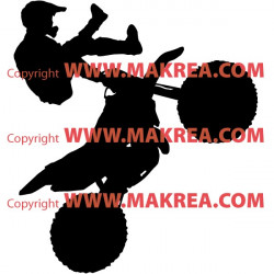 Sticker Moto Cross