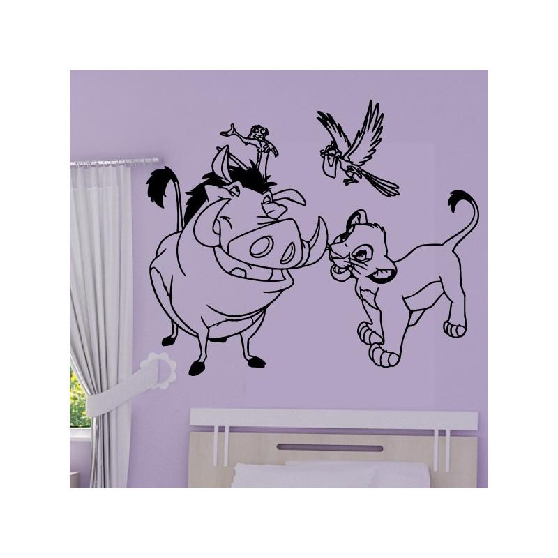 Sticker Roi Lion - Simba et Pumbaa
