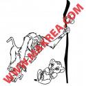 Sticker Roi Lion - Simba et Rafiki