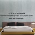 """Sticker Texte """"La vie est un cycle sans fin..."""""""