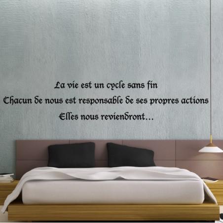 """Texte """"La vie est un cycle sans fin..."""""""
