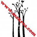 Sticker Nature - 3 Arbres Bouleaux