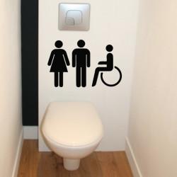 WC - Personnages H & F + Handicapé
