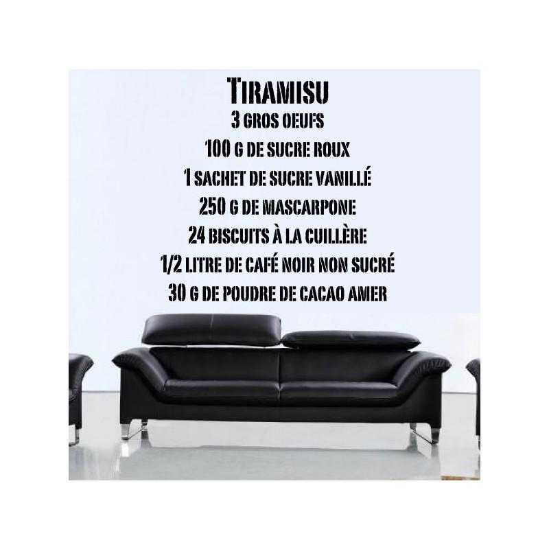 Sticker Recette Tiramisu (texte industriel)