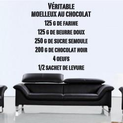 Sticker Recette Moelleux au chocolat