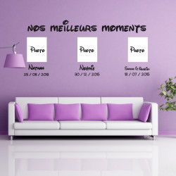 Sticker Lettrage : Nos meilleurs moments et 3 dates + prénoms