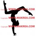 Sticker Gymnastique Poutre