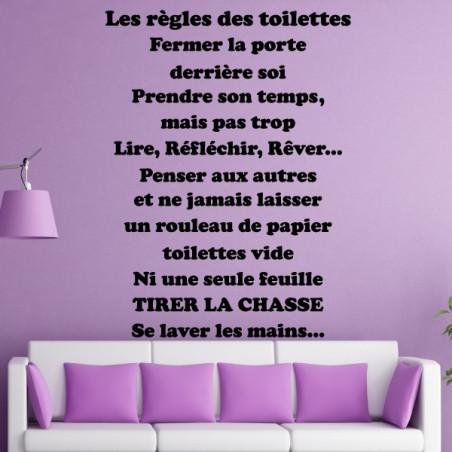 Texte : Les règles des Toilettes