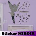 Sticker Miroir - Pack Fée Clochette + Prénom