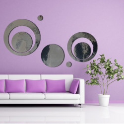 Sticker Miroir - 5 Cercles Design