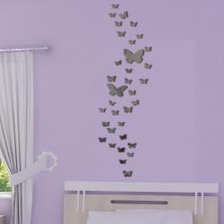 Sticker Miroir - Envolée de Papillons