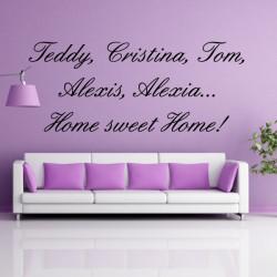 citation : 5 prénoms + Home Sweet Home!