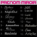 Sticker Miroir Texte, Prénom