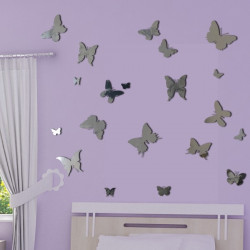 Sticker Miroir - Pack/Kit 20 Papillons