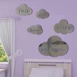 Sticker Miroir Nuages - Fais de Beaux Rêves petit ange