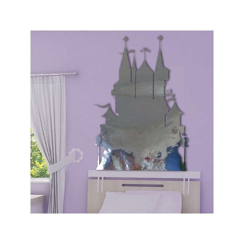 Sticker miroir ch teau de princesse for Miroir princesse