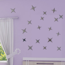 Sticker Miroir - Lot 18 étoiles 3 tailles