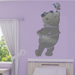 Sticker Miroir Winnie Papillon sur le Nez