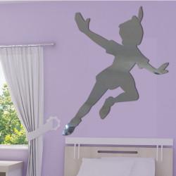 Sticker Miroir - Silhouette Peter Pan