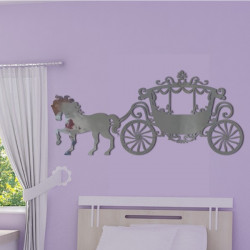 Sticker Miroir - Carrosse de Princesse