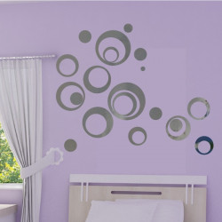 Sticker Miroir - Lot 20 Bulles