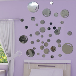 Sticker Miroir - Lot 40 Bulles de savon