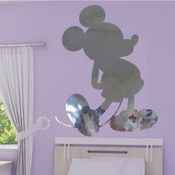 Sticker Miroir - Mickey bras dans le dos