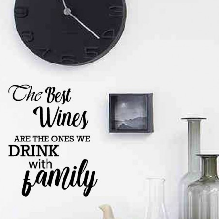 Texte : The best wines are the ones we drink with family